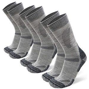 Calcetines grises de lana merino para hombres