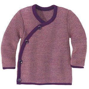 Jersey para bebes de lana merino rojo granate