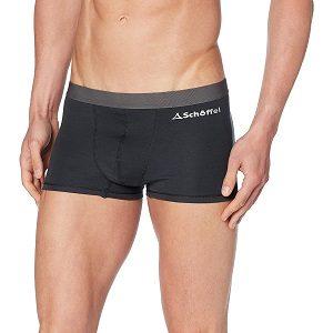 calzoncillos boxer de lana merino negro pálido