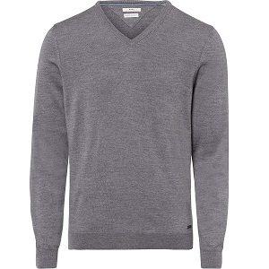 jersey de lana merino gris de hombre