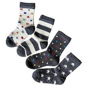 lana merino calcetines para niños y niñas