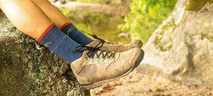 Calcetines de senderismo para hombres de lana merina