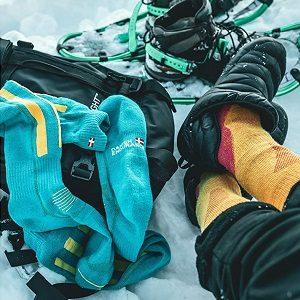 calcetines de esquiador de lana merino