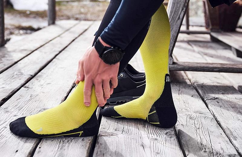 calcetines deportivos amarilos de invierno CEP