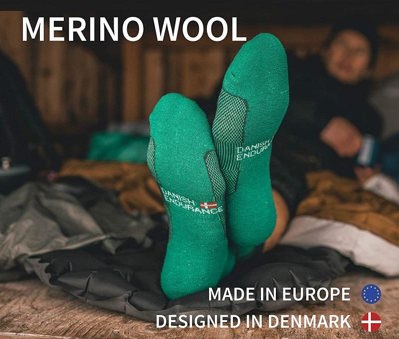 danish endurance calcetines verdes