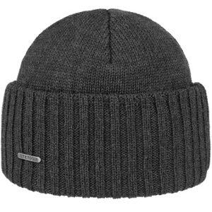 gorro gris oscuro 100% lana merino unisex