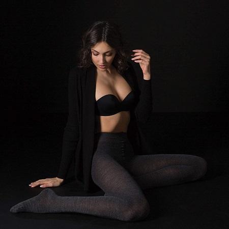 medias negras lana merino