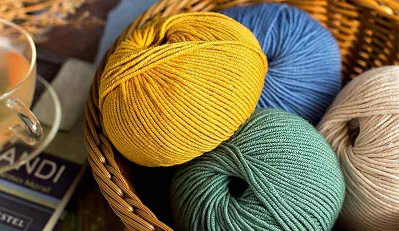 ovillos lana merina de colores